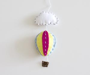 Ballon Mobile aus Filz