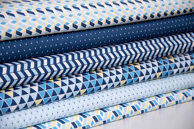 Snaply-pattydoo-Stoffe Linie blue