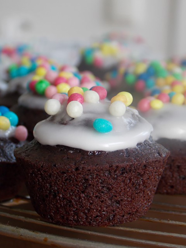 Muffins mit Zuckerperlen