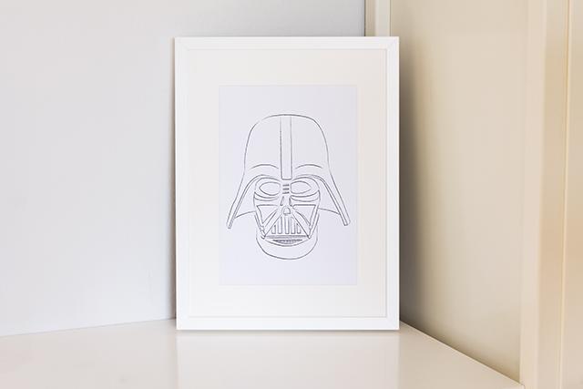 Darth Vader zum Ausdrucken und an die Wand hängen