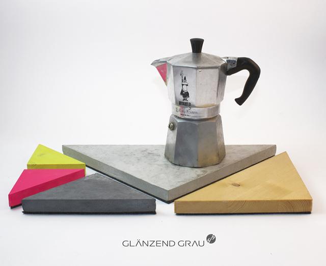 Geometrisch Grau Untersetzer-Set