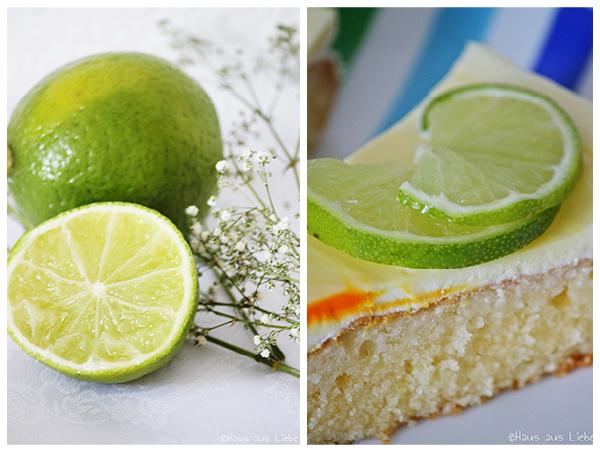 Zitronen-Schmand-Kuchen und Limette klein