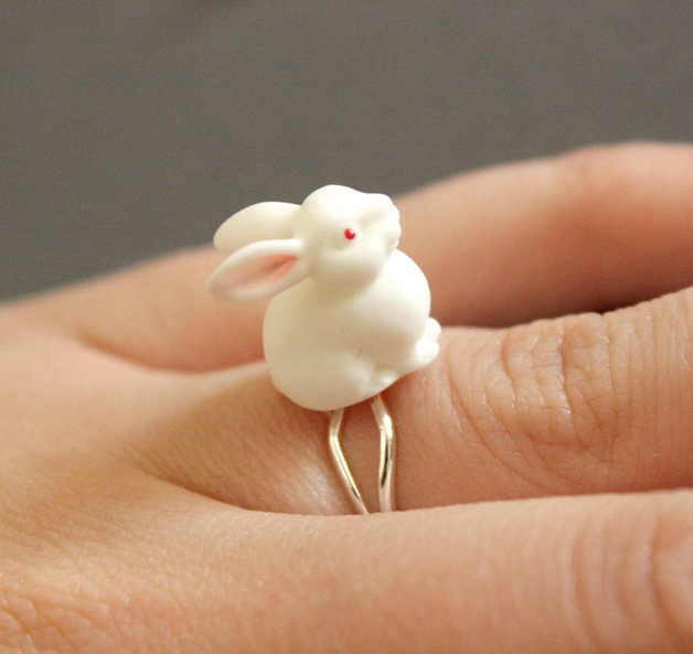 hase bunny ring