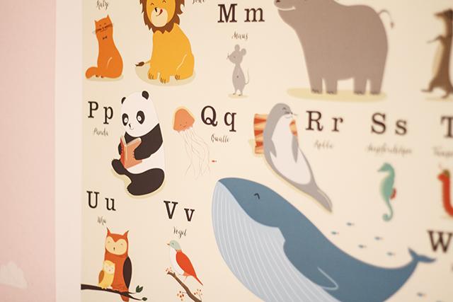 Tier-ABC Poster VIERUNDFÜNFZIG