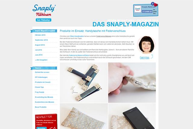 Snaply Magazin Handytäschchen Mai 2014